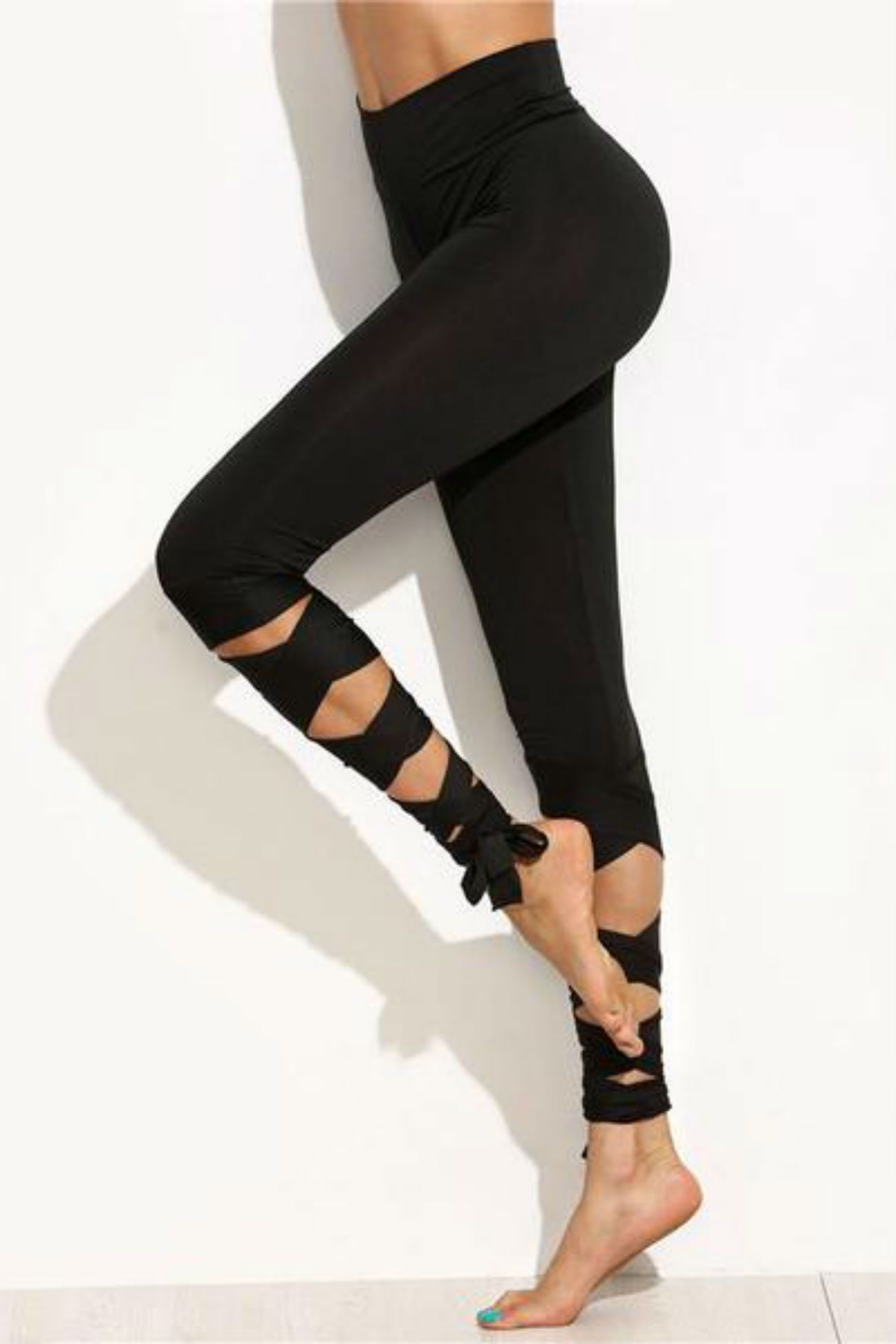 Allure Criss Cross Leggings <br> Black - Muscle Fitness Factory