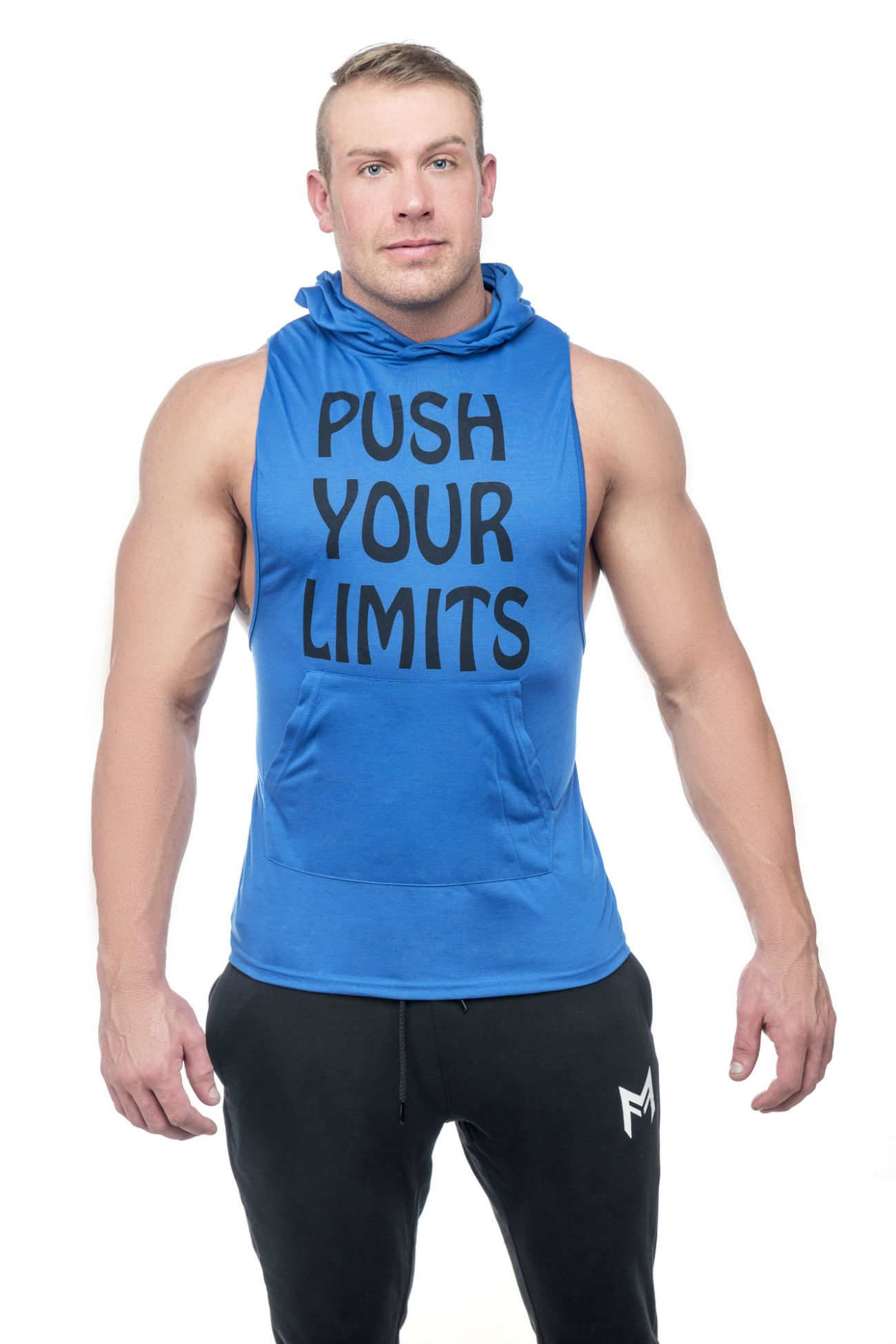 Limitless Hooded Tank <br>Blue - Muscle Fitness Factory