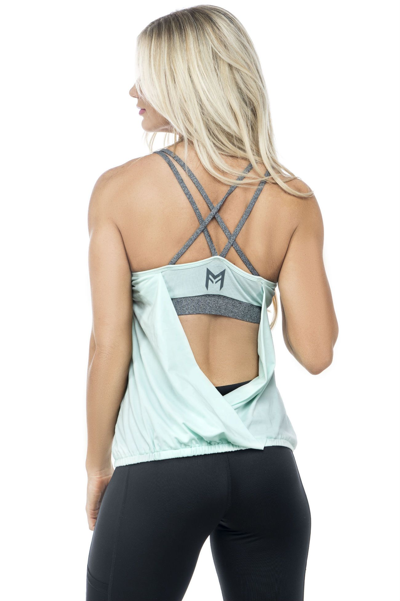 MFF Cross Back Tank<br>Mint - Muscle Fitness Factory