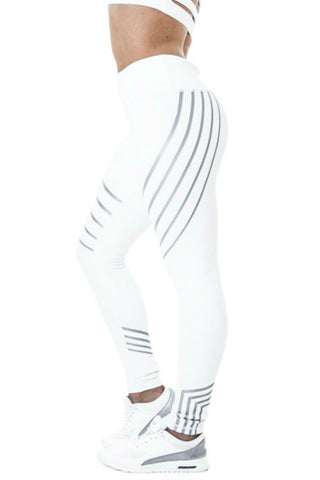 Neon Nights Glow Leggings<br>White - Muscle Fitness Factory