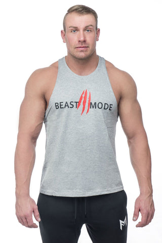 Beast Mode Stringer <br>Grey - Muscle Fitness Factory
