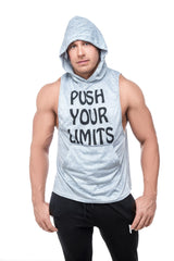 Limitless Hooded Tank <br>Grey - Muscle Fitness Factory