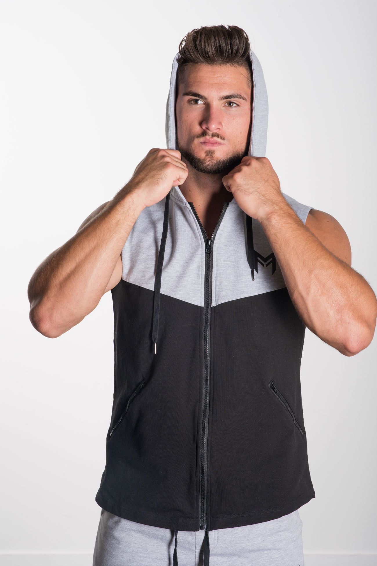 MFF Zip-Up Sleeveless Hoodie - Muscle Fitness Factory