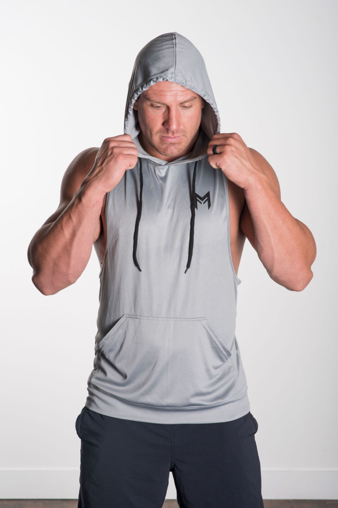 MFF Intensity Hooded Tank<br>Grey - Muscle Fitness Factory