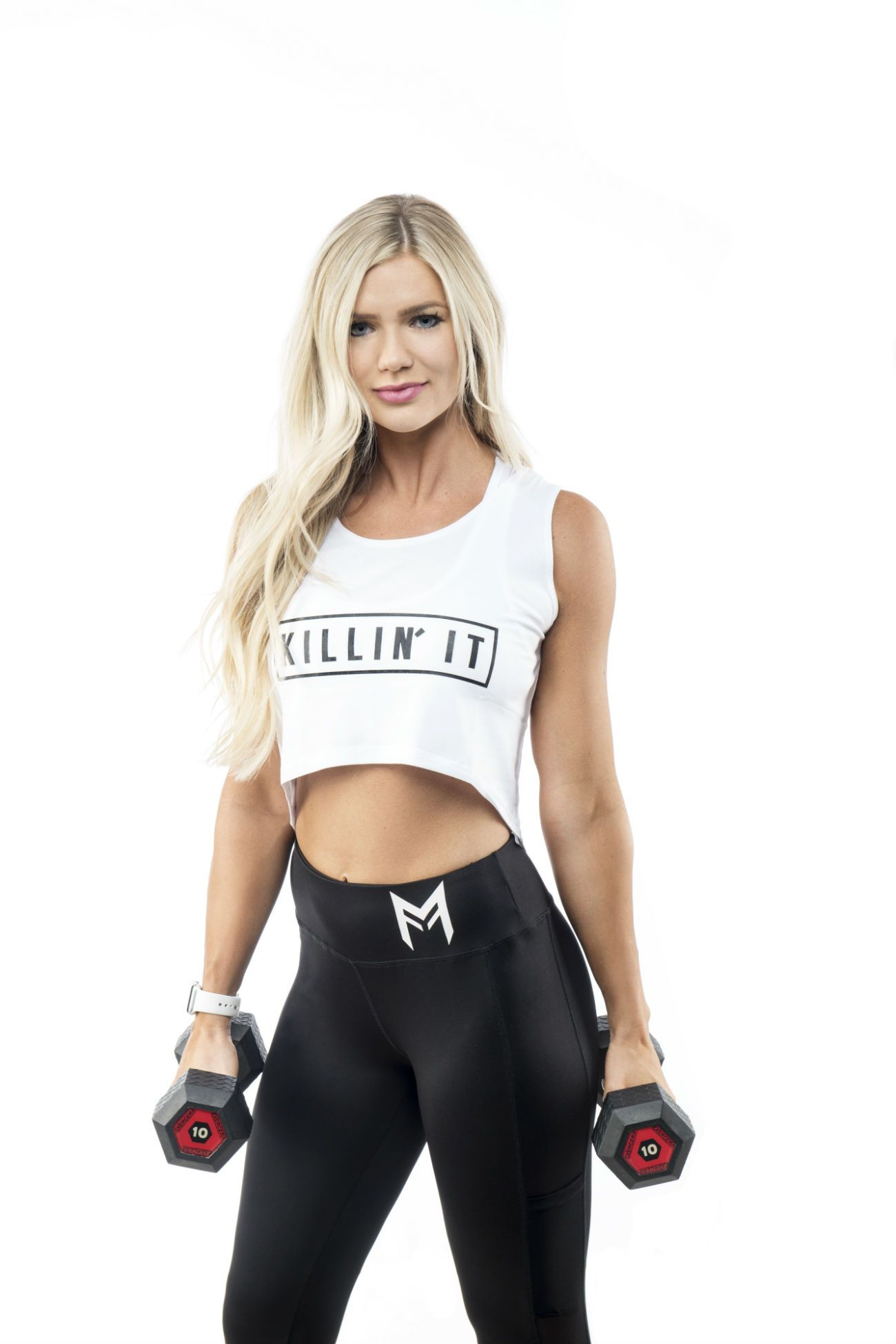 Killin' It Crop Top <br> White - Muscle Fitness Factory