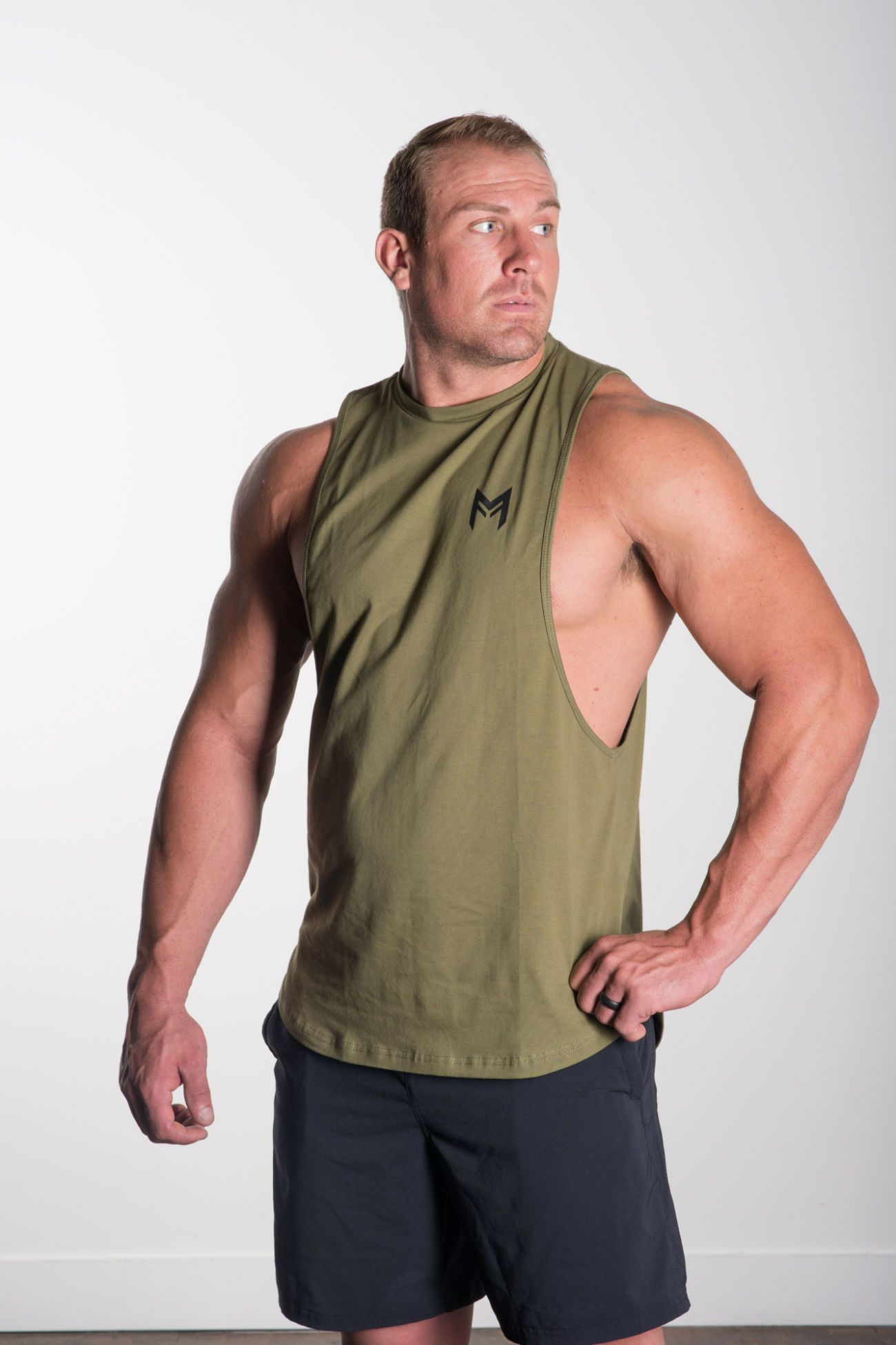MFF Blitz Tank<br>Olive Green - Muscle Fitness Factory