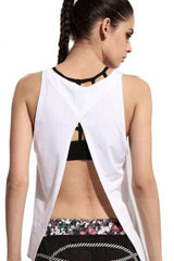 Women's Open Back Tank <br> White