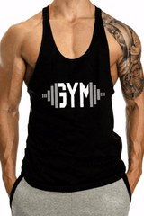 Swole Gym Stringer <br> Black - Muscle Fitness Factory