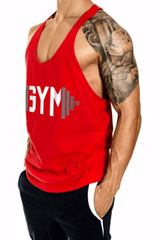Swole Gym Stringer <br> Red - Muscle Fitness Factory