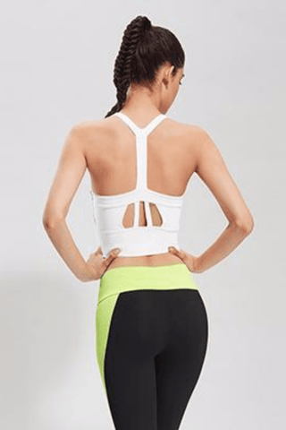 Performance Push Up Sports Bra Tank <br> White - Muscle Fitness Factory