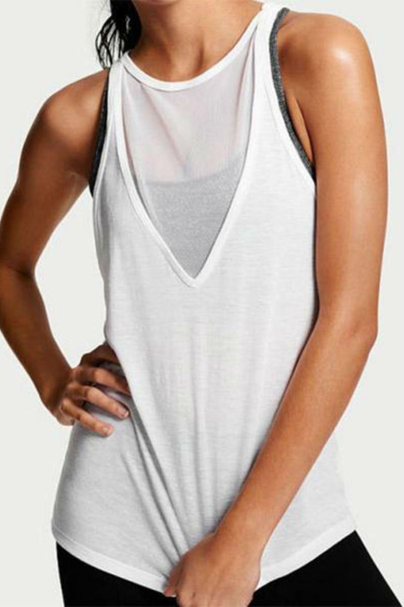 Energize Mesh Tank<br>White - Muscle Fitness Factory