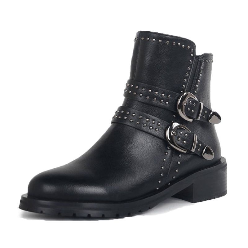 EDBURY LEATHER GRUNGE BOOT