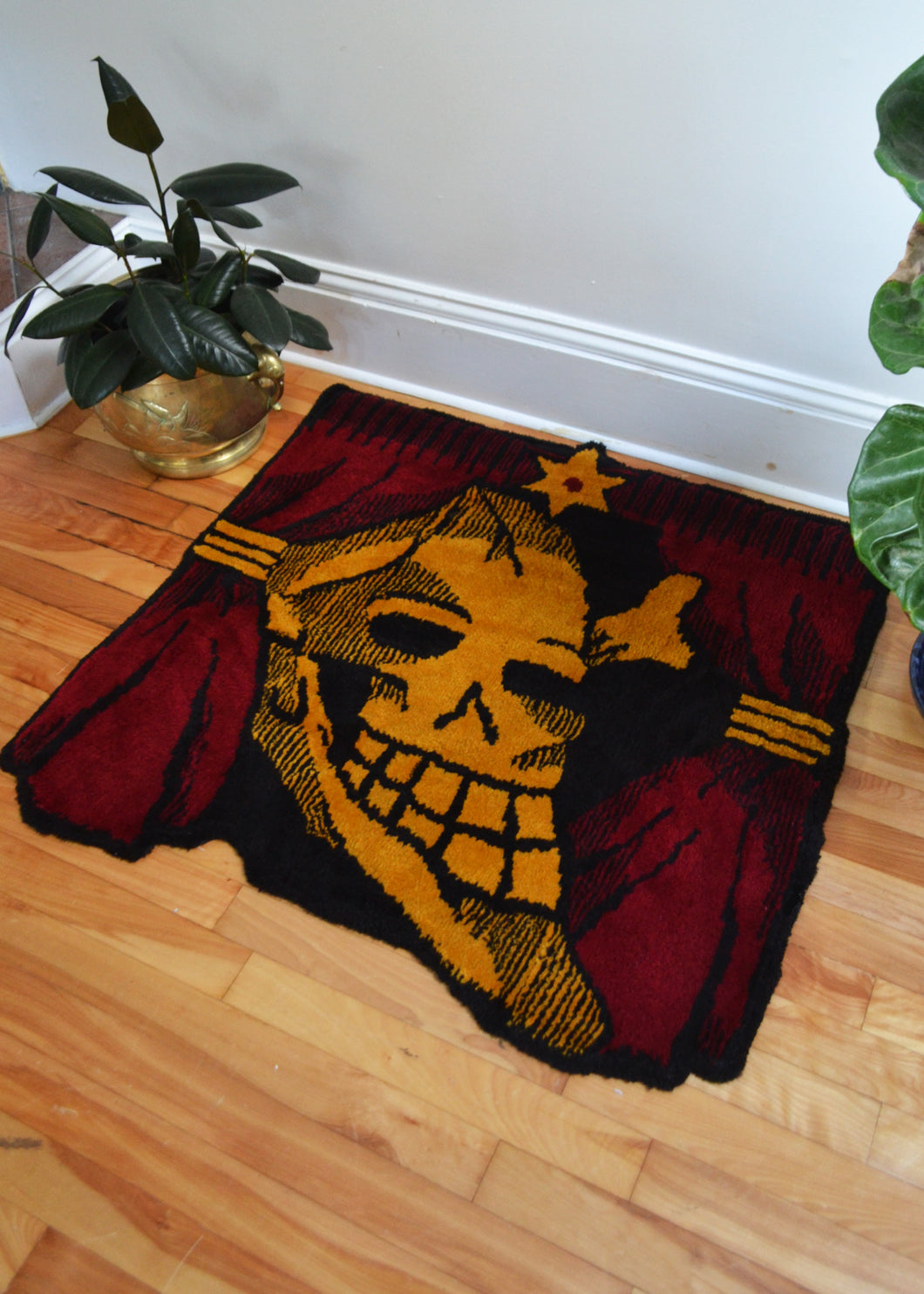 Skull and Curtains Rug
