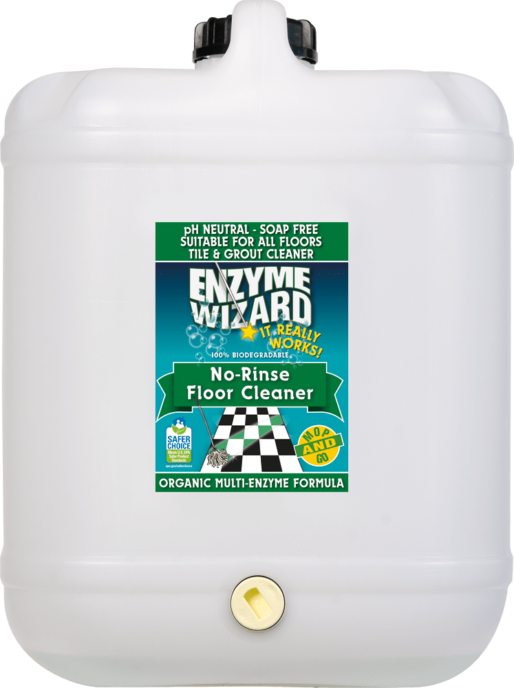 No Rinse Floor Cleaner 20 Litres Enzyme Wizard