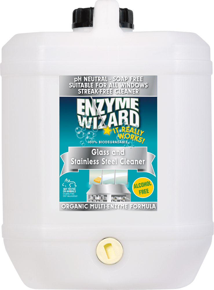 Glass & Stainless Steel Cleaner 10 Litres Enzyme Wizard
