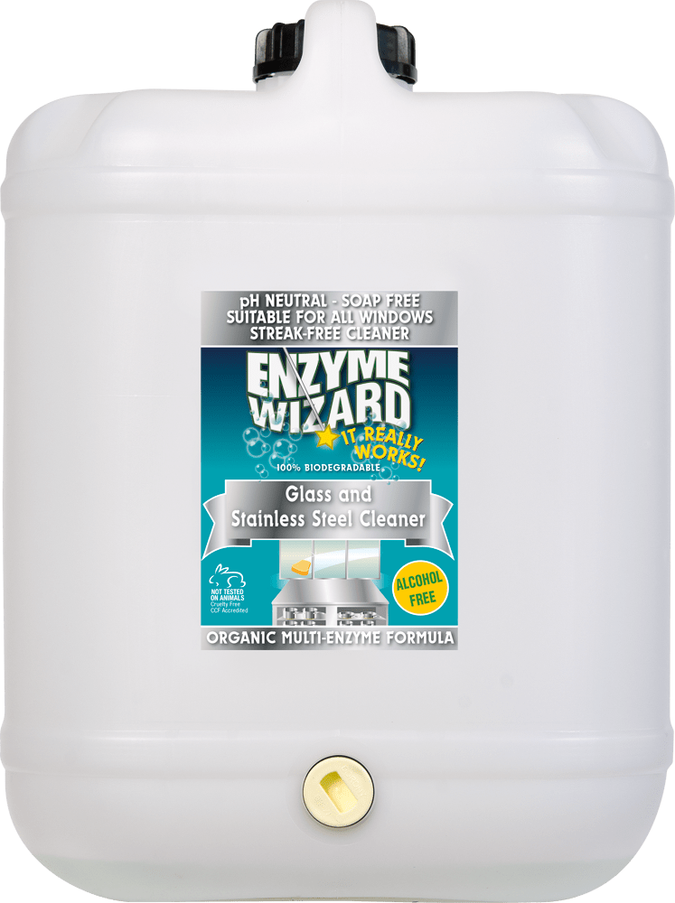 Glass & Stainless Steel Cleaner 20 Litres Enzyme Wizard