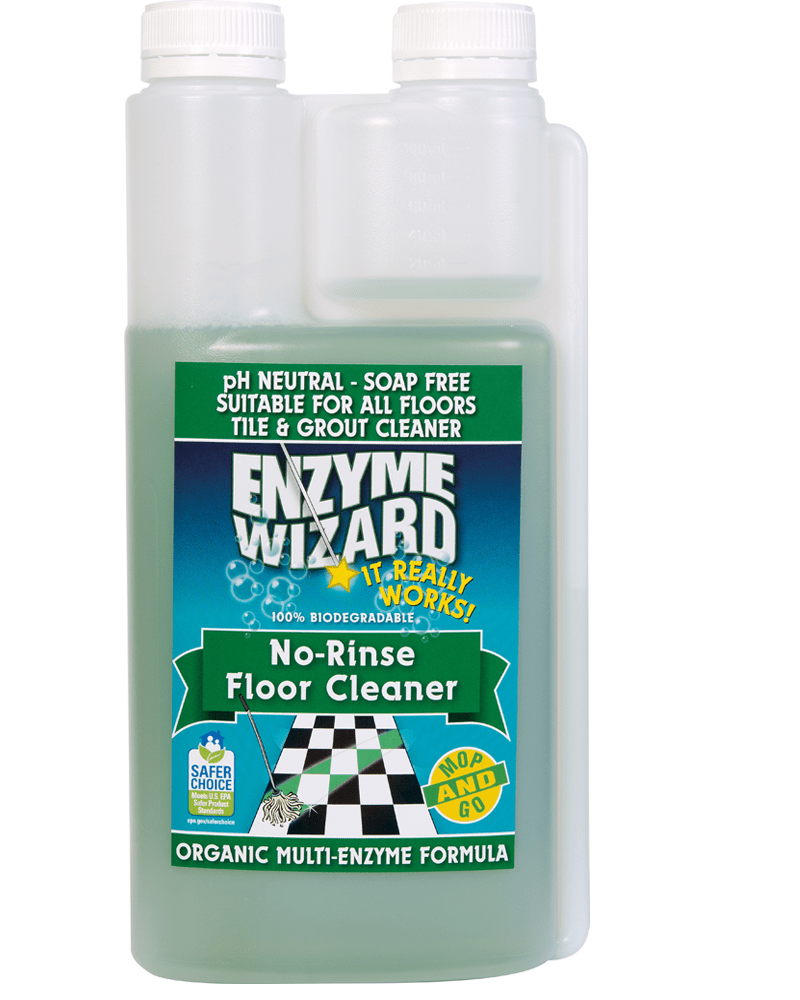 No Rinse Floor Cleaner 1 Litre Twin Enzyme Wizard