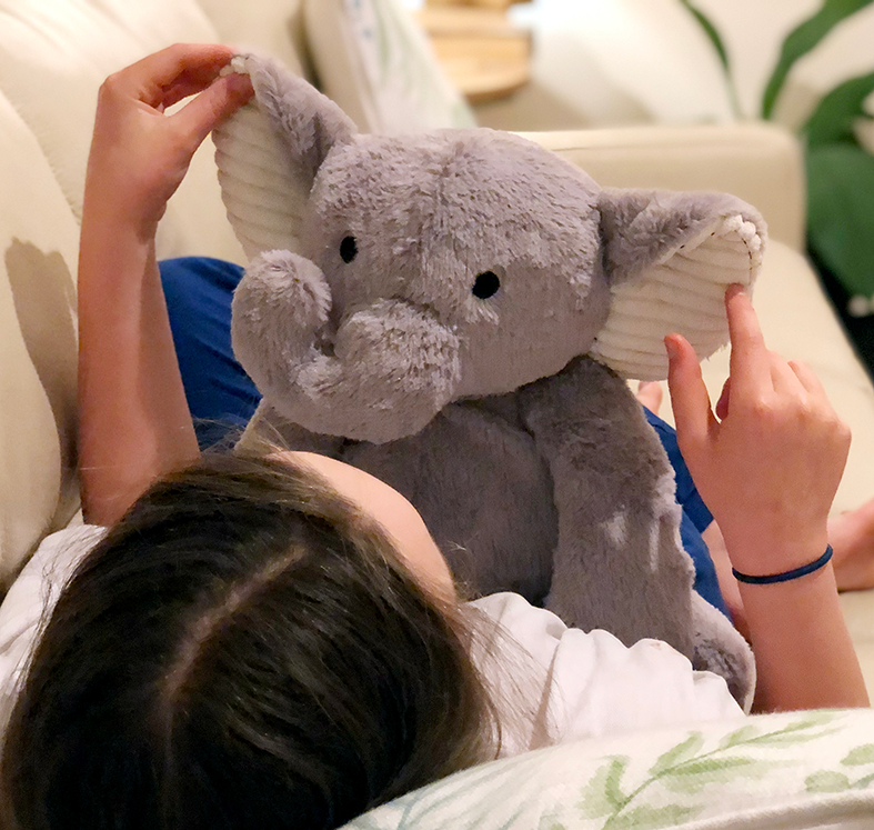 Weighted Cuddly Elephant