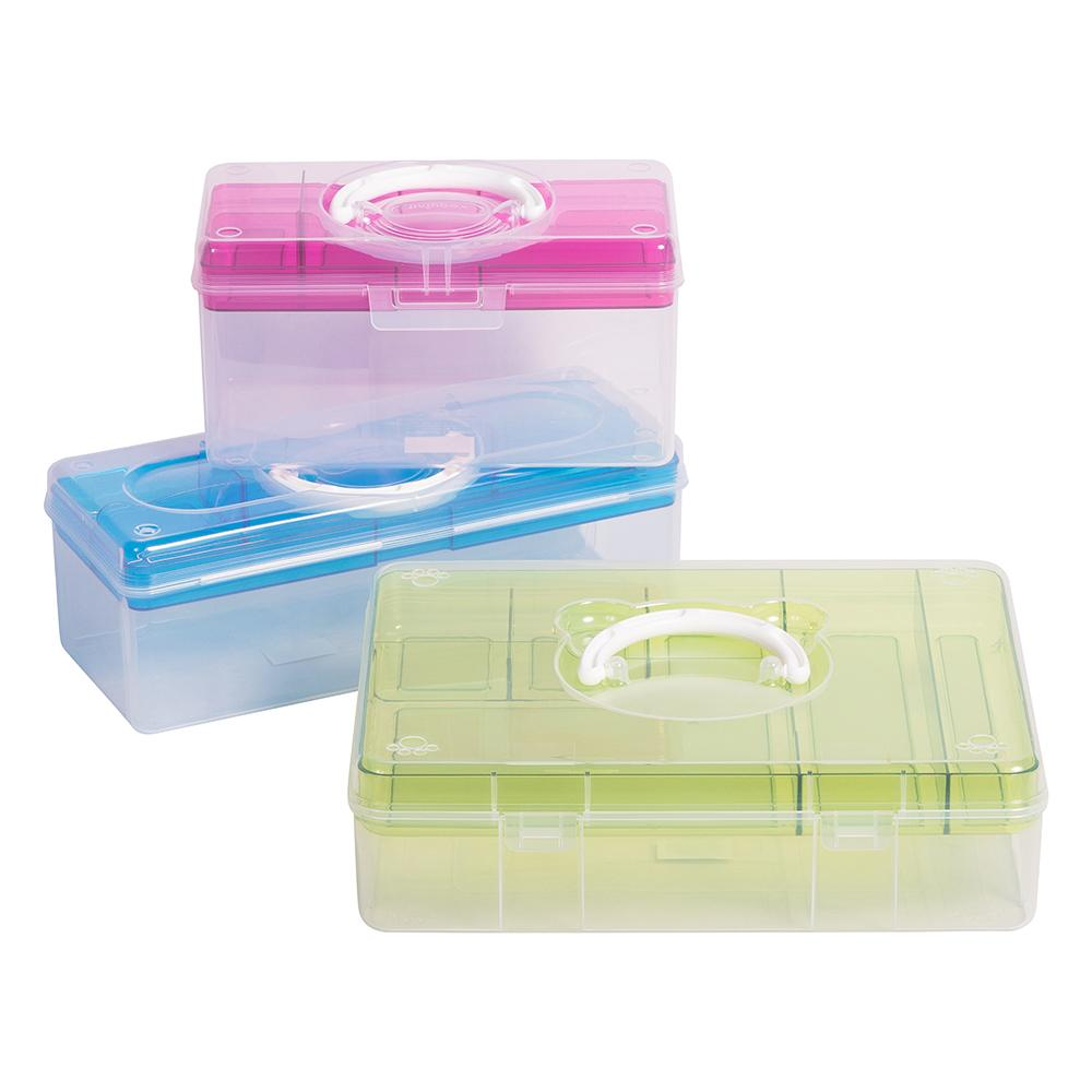 Clear Teacher Caddy with Tray