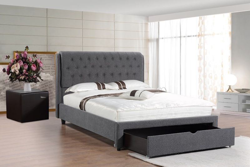 Maddison Upholstered Bed with under-bed storage