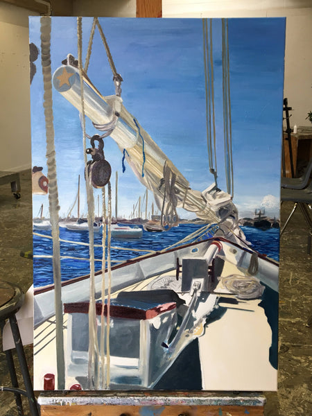 painting progress: hyper real sailing