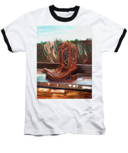 Load image into Gallery viewer, Posing boots - Baseball T-Shirt