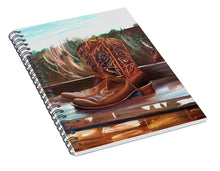 Load image into Gallery viewer, Posing boots - Spiral Notebook