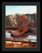 Load image into Gallery viewer, Posing boots - Framed Print