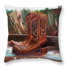 Load image into Gallery viewer, Posing boots - Throw Pillow