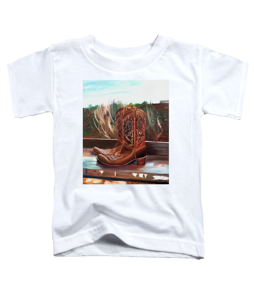 Posing boots - Toddler T-Shirt