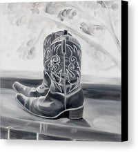 Load image into Gallery viewer, BW boots - Canvas Print