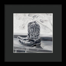 Load image into Gallery viewer, BW boots - Framed Print