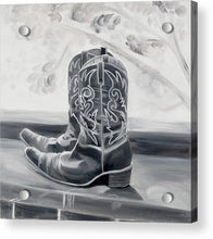 Load image into Gallery viewer, BW boots - Acrylic Print