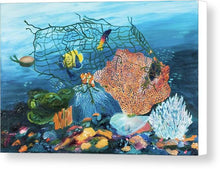 Load image into Gallery viewer, Caught in coral - Canvas Print
