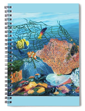 Load image into Gallery viewer, Caught in coral - Spiral Notebook