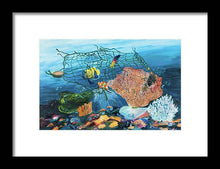 Load image into Gallery viewer, Caught in coral - Framed Print