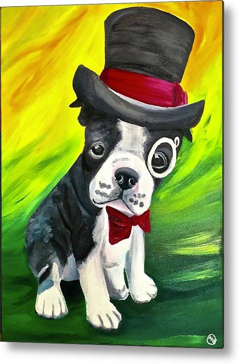 Dapper Dog - Metal Print
