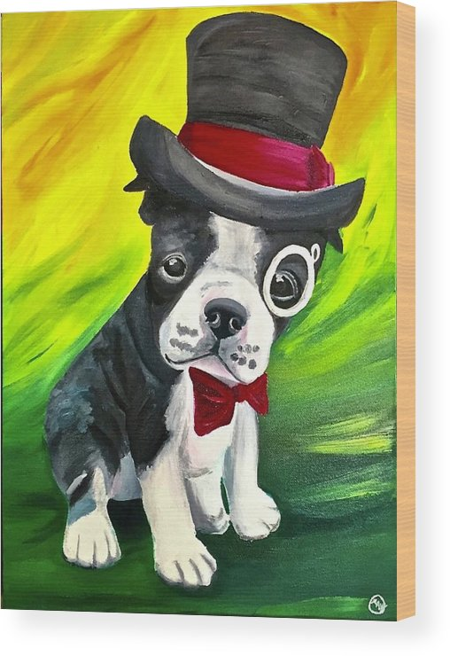 Dapper Dog - Wood Print