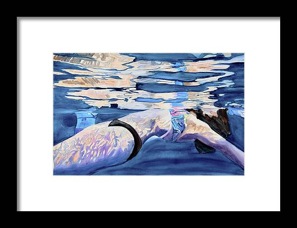 Floating Away  - Framed Print