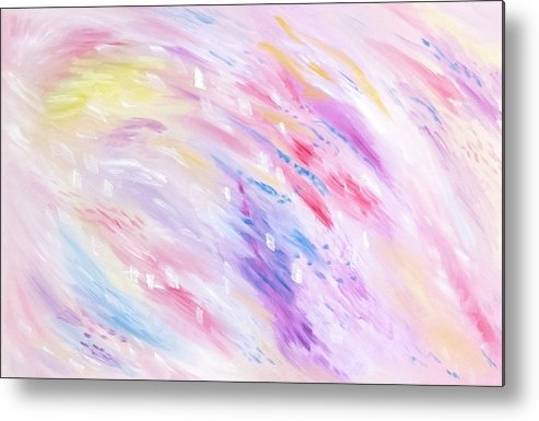Pink Abstract Passion - Metal Print