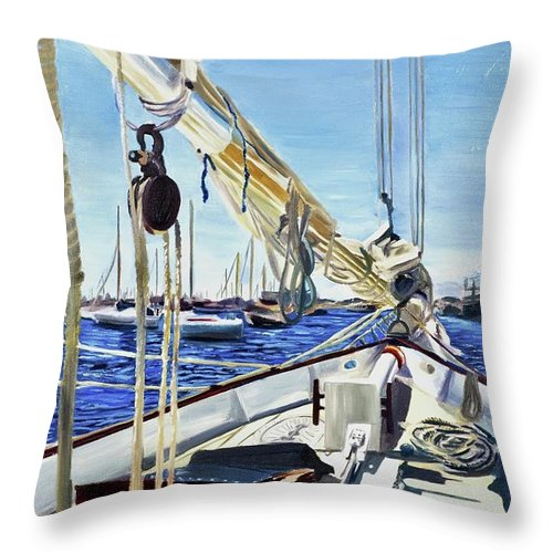 Sailing Away  - Throw Pillow