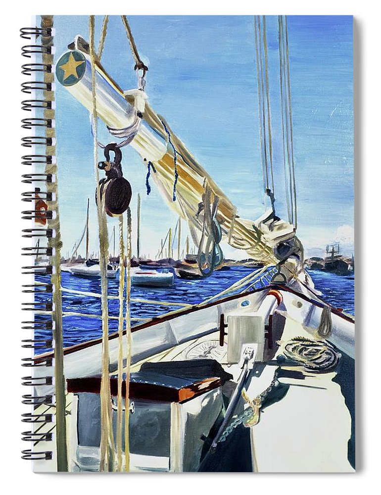Sailing Away  - Spiral Notebook