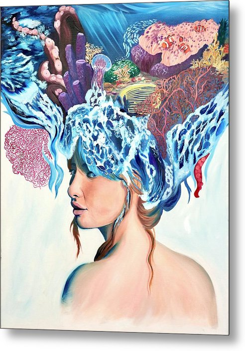 The queen of the sea - Metal Print