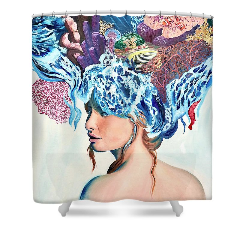The queen of the sea - Shower Curtain