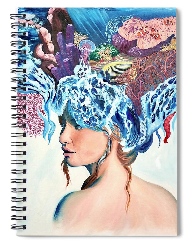 The queen of the sea - Spiral Notebook