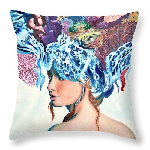 The queen of the sea - Throw Pillow