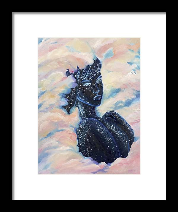 Woman In The Clouds - Framed Print