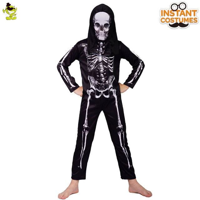 Boy Skeleton Skull Costume