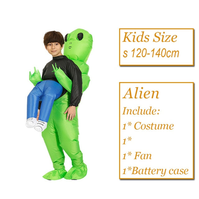 Scary Green Alien Costume