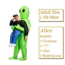 Load image into Gallery viewer, Scary Green Alien Costume